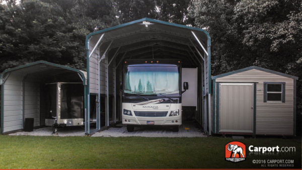 Regular style carport 14 39 x 36 39 x 12 39 shop metal for Rv buildings garages